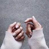 jewels,tumblr,knuckle ring,ring,minimalist jewelry,nail polish,nails