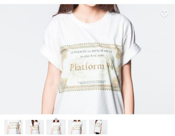 harry potter hogwarts shirt t-shirt platform buy a ticket