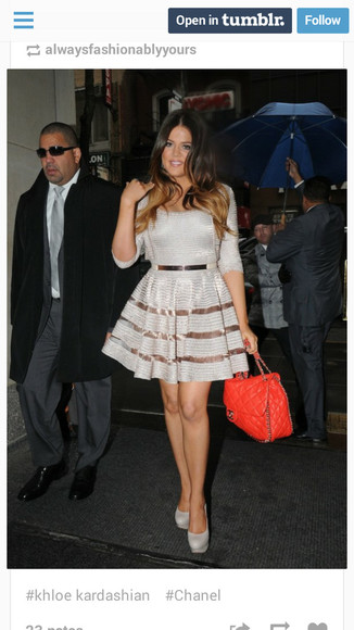 see through kloe kardashion belted stripes