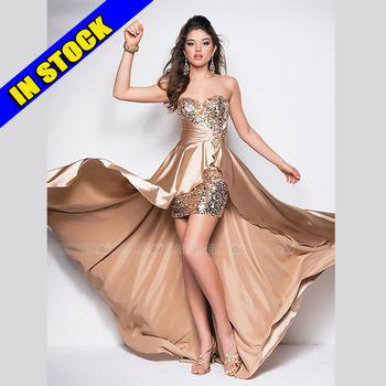 Vestidos de festa vestido longo 2015 sexy lace up prom dresses hi lo beading party dresses evening dress gown 5 colors d104