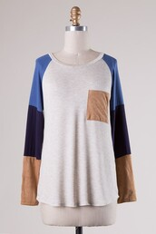 shirt,blue,raglan,suede,pockets,navy,28719