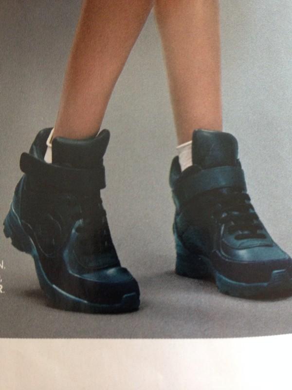 Chanel Sneakers Black Black High Top Sneakers