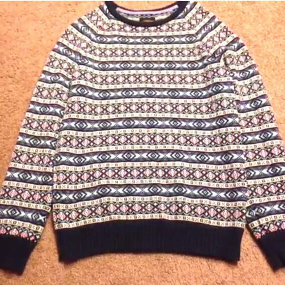 pattern print sweater