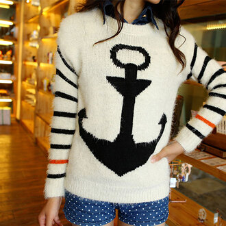 dress sweater cute girly stripes hipster indie hippie print sweatshirt clothes