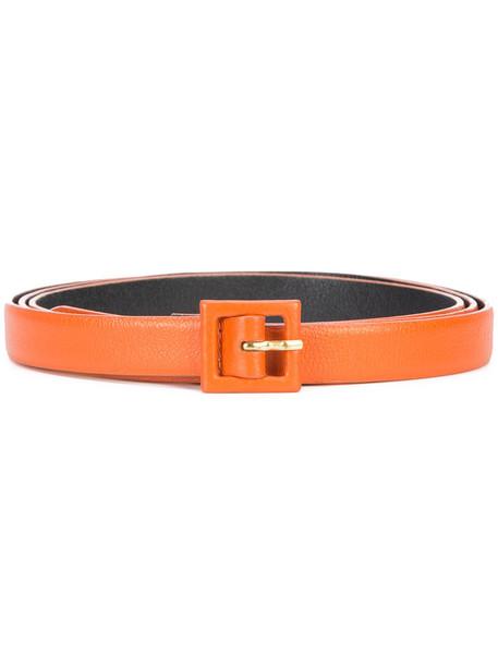 oscar de la renta women belt waist belt leather yellow orange