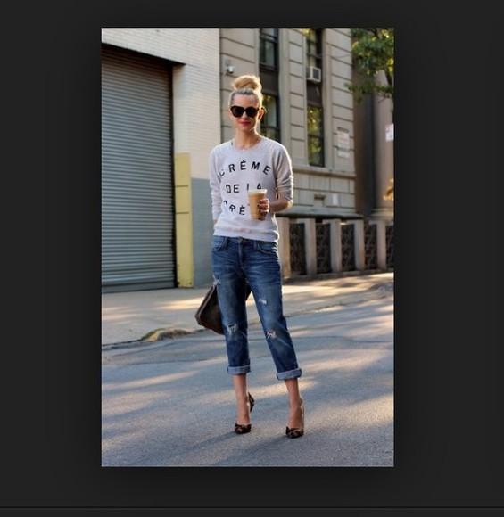 clogs high heels sunglasses shirt jeans top fashion bag clothes summer outfits t-shirt boyfriend jeans clutch starbucks cute outfits girly tumblr tumblr girl