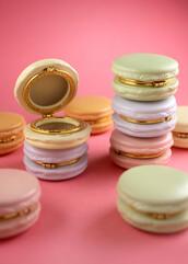 jewels,box,pastel,macaroon,cake,purple,mint,yellow,pink,lavender,gold,cute,kitchie