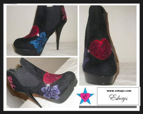 rhinestone shoes black booties rhinestone heart design rhinestone heart design boots rhinestone heart design booties booties custom bootiesm rhinestine booties rhinestone booties bling booties ankle booties