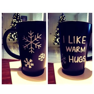 home accessory mug winter formal dress black and white