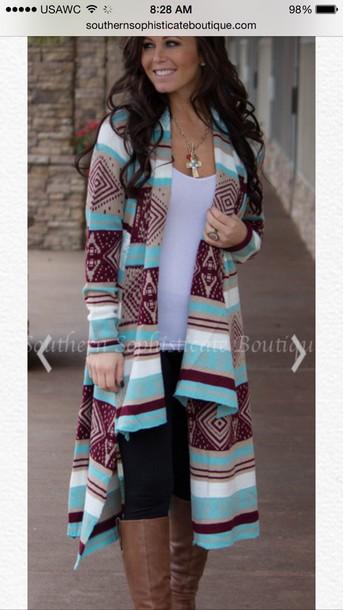 d05455c958 cardigan tribal cardigan sweater clothes aztec mint long sleeves aztec  sweater aztec cute cardigan cute native