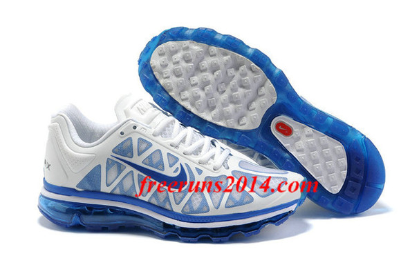 shoes sneakers white nike air max 2011 men 2011 air max royal blue