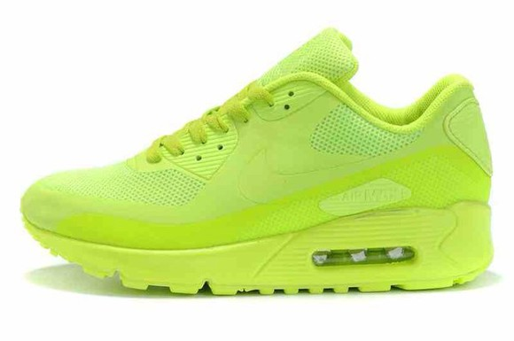 shoes neon yellow neon nike nike airmax