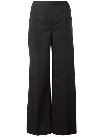 pants palazzo pants women classic spandex black wool
