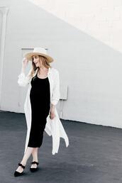 eat sleep wear,blogger,dress,top,shoes,hat,black dress
