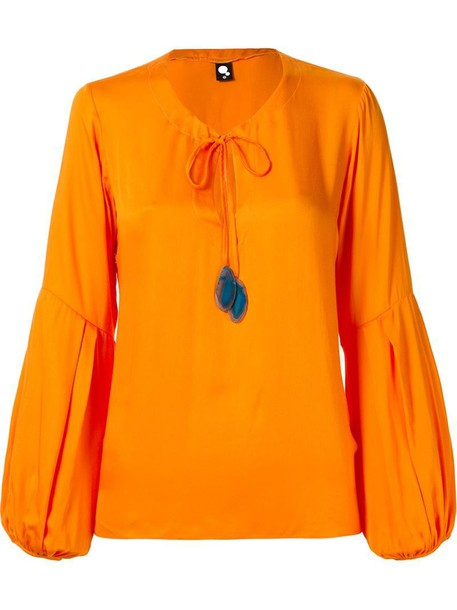 Skinbiquini blouse yellow orange top