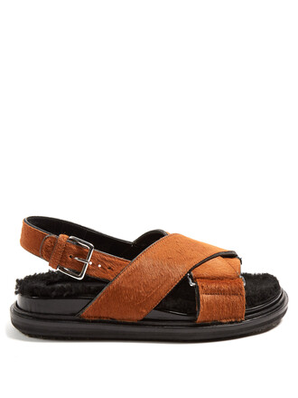 cross hair sandals tan shoes
