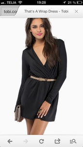 black,dress,little black dress,wrap dress