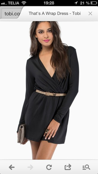 dress black wrap dress little black dress