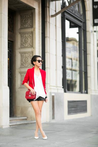 wendy's lookbook blogger top jacket bag sunglasses jewels