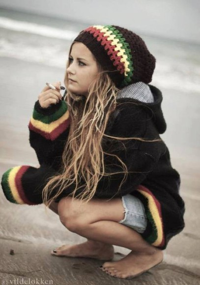 rasta jacket reggae jah jah beauty smoke hat