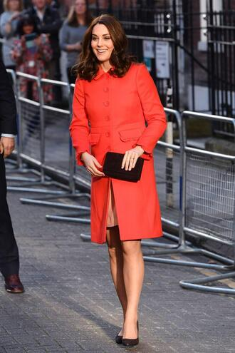 coat red red coat spring outfits kate middleton
