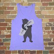 tank top,playful banterer,california,california republic,cali,brown cuddly bear,women tank,funny t-shirt
