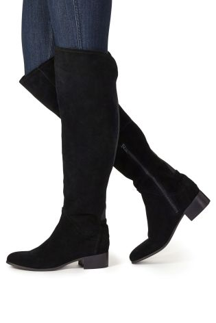 Buy microsuede thigh boots from the next uk online shop