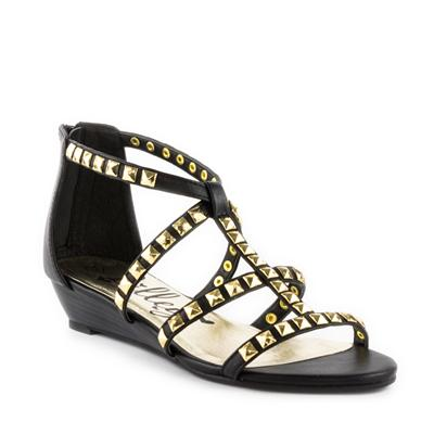 Lilley Womens Studded Gladiator Sandal in Black | Shoe Zone