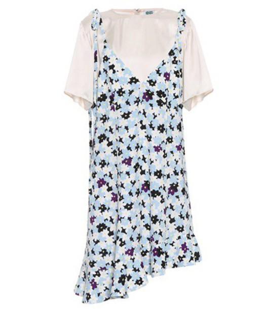 Kenzo Floral Jumper dress in blue