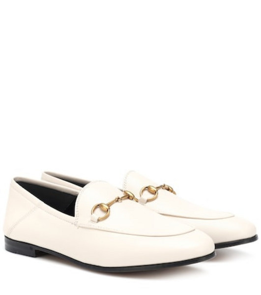 Gucci Horsebit leather loafers in white