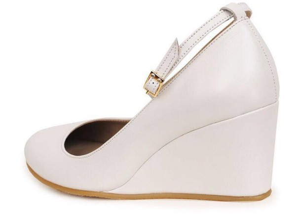 de879bfe5 shoes wedges wedges ivory round wedges prom prom shoes summer shoes white  shoes gold golden strap