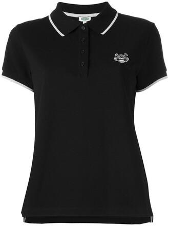 shirt polo shirt mini women tiger cotton black top