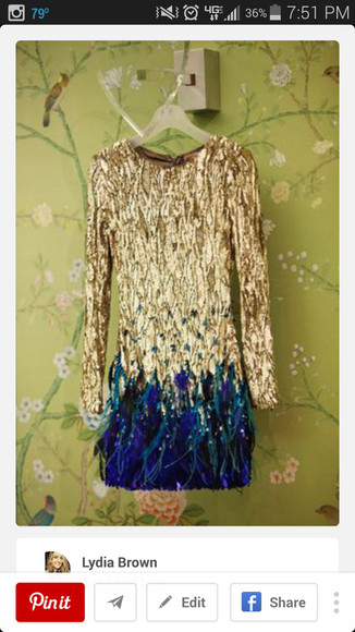 feathers sparkly dress glitter dress sequin dress gold sequins gold dress