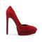 5 inch heels - suede red heel platforms