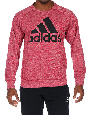 Adidas TEAM ISSUE FLEECE CREW SWEATSHIRT - Red | Jimmy Jazz - M64732-600