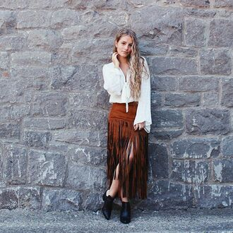 skirt fringes fringe skirt midi skirt coachella boho boho chic hippie hippie chic fall outfits fall colors raga canada canadian girls