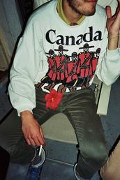 sweater,canada sweatshirt,crewneck