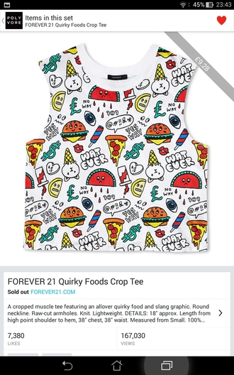 top food colourful perfect crop tops
