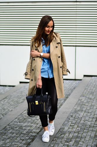 a cup of style blogger trench coat satchel bag