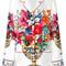 Dolce & gabbana - flower print pajama shirt - women - silk - 42, silk
