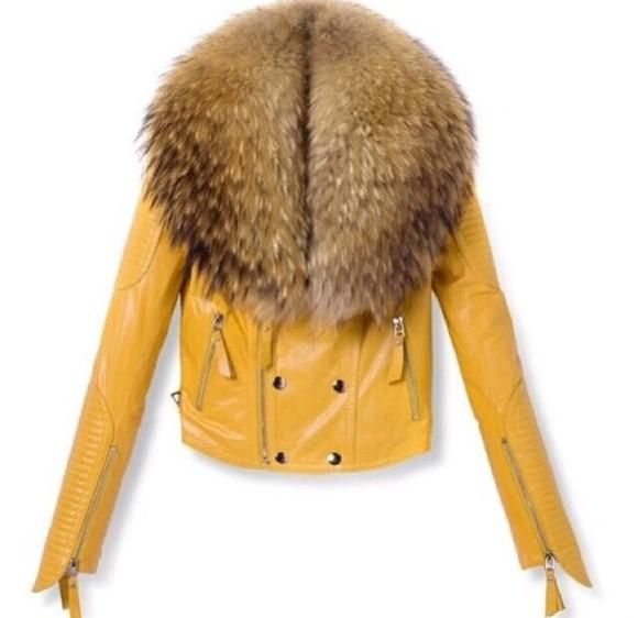 leather fur jacket fur fur coat leather