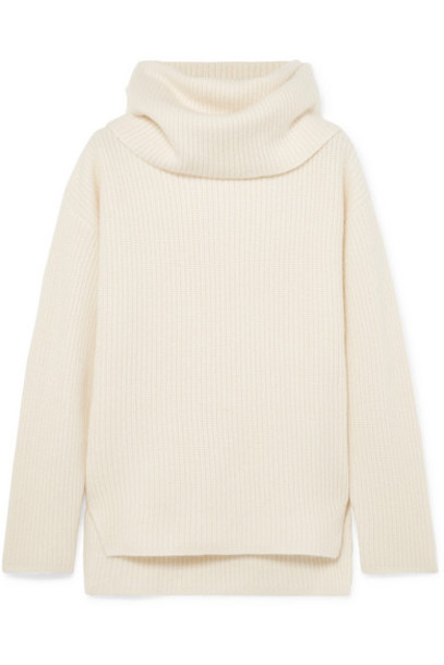Joseph - Ribbed Cashmere Turtleneck Sweater - Ecru