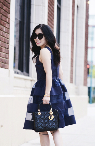 hallie daily blogger dress shoes bag sunglasses jewels coat
