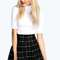 Krissy grid check volume skater skirt