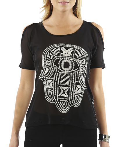 Striped Tribal Embroidered Tee | Shop Tops at Wet Seal