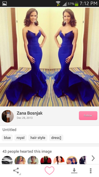 dress royal blue dress royal blue prom gown long prom dress prom dress mermaid prom dresses fitted dress bustier dress