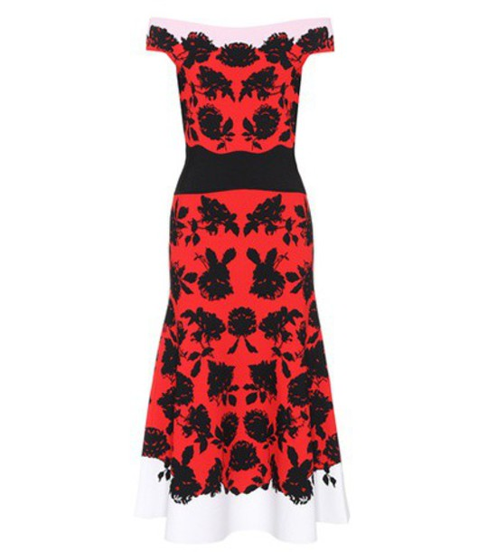 Alexander Mcqueen dress red