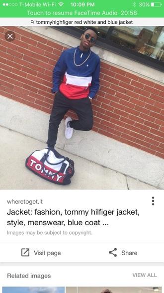 jacket tommyhilifier jacket red blue white