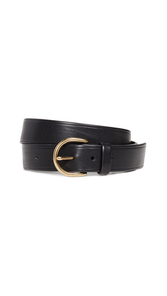 Madewell Medium Perfect Leather Belt in black