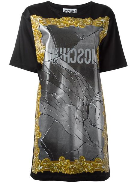 Moschino dress shirt dress t-shirt dress women black
